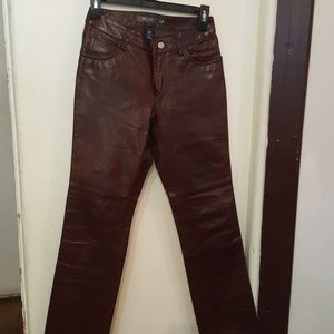 Gap leather pant jean style bootcut